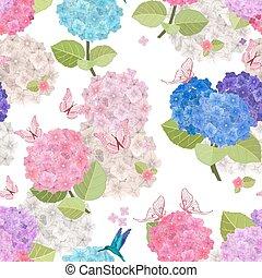 bloemen, seamless, kleurrijke, textuur