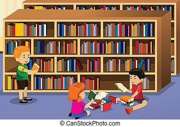boek, lezende , geitjes