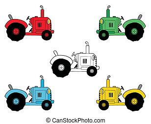 boerderij, digitale , tractoren, collage