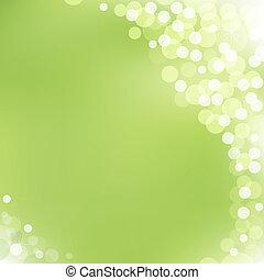 bokeh, vector, groene achtergrond