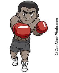 bokser, spotprent