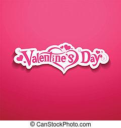 boodschap, vrolijke , ontwerp, dag, valentijn