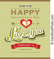 boodschap, vrolijke , spandoek, valentijn