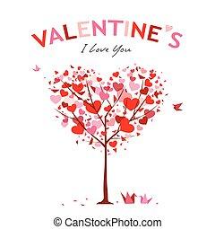 boom dag, vector, valentijn, ontwerp, vrolijke