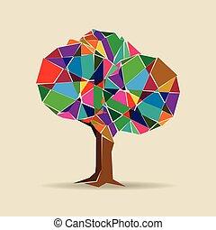 boompje, kleurrijke