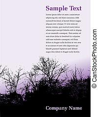 boompje, pagina, landscape