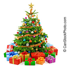 boompje, sterke drank, kleurrijke, g, kerstmis