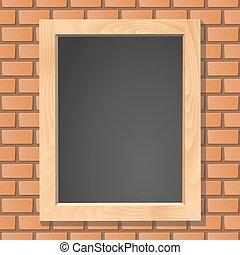 bord, baksteen, vector, muur, illustratie