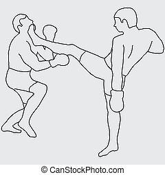 boxing, schop