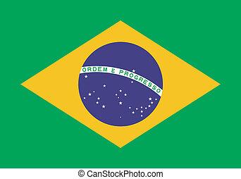 brazilië vlag, vector, illustratie
