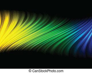 brazilie, blauwe , gele, golf, vlag, groene achtergrond