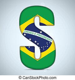 brazilie, brieven, alfabet, vlag, woorden, braziliaans