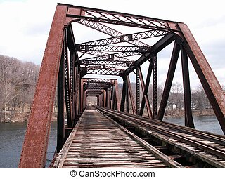 brug, spoorweg
