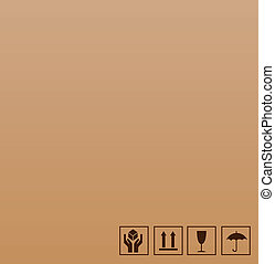 bruine , symbool, breekbaar, karton
