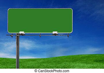 buitenreclame, autoweg, buiten, reclameteken