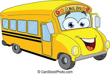 bus, school, spotprent