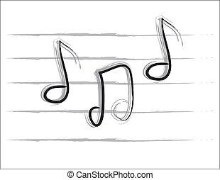 b&w, opmerkingen, muziek
