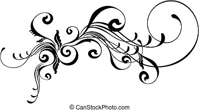 caligraphic, ornament