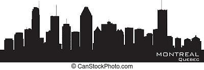 canada, skyline., gedetailleerd, silhouette, montreal
