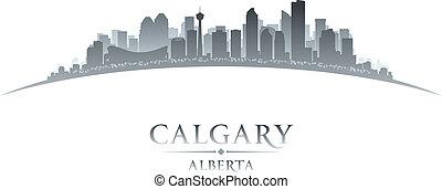 canada, stad, illustratie, silhouette., calgary, skyline, vector, alberta