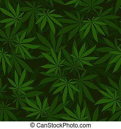 cannabis, seamless, model