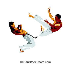 capoeira, vechters