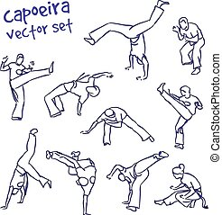 capoeira, vector, set