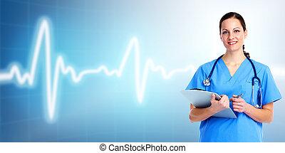care., arts, gezondheid, medisch, woman.