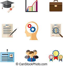 carrière, gekleurde, zakenbeelden