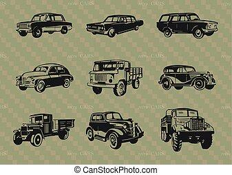 cars..eps, set, retro