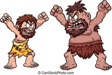 cavemen, vecht