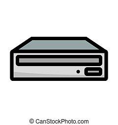 cd-rom, pictogram