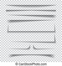 checkered, papier, effecte, achtergrond, schaduw, transparant
