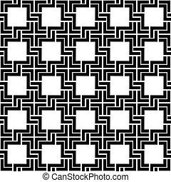 checkered, pattern., seamless, vector, zwarte achtergrond, witte , geometrisch