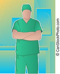chirurg, gekruiste armen