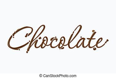 chocolade, tekst