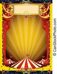 circus, rood geel