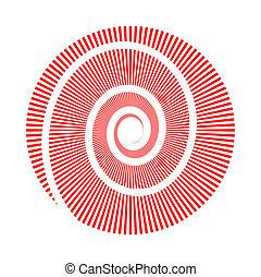 cirkel, beeld, vector, spiraal