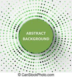 cirkels, abstract, groene achtergrond, halftone