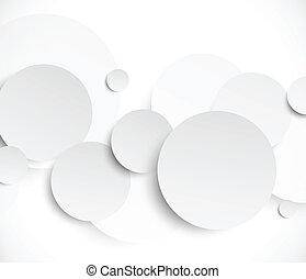 cirkels, abstract, papier, achtergrond