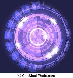 cirkels, abstract, technologie, achtergrond, viooltje