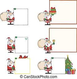 claus., set, kerstman, verzameling
