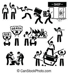 cliparts, rebel, rel, protesters