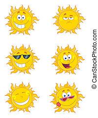 collage, zon, digitale , vrolijke
