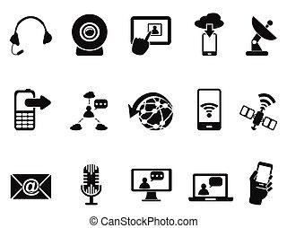 communicatie, moderne, set, iconen