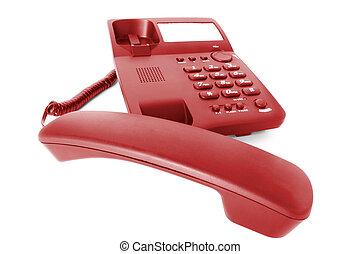 communications., telefoon, kantoor