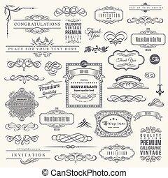 communie, frame, verzameling, calligraphic, ontwerp, uitnodiging, hoek, grens