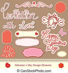 communie, ontwerp, dag, valentine