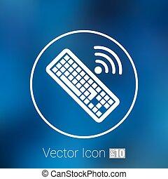 computer, illustration., meldingsbord, vector, klee, toetsenbord, pictogram