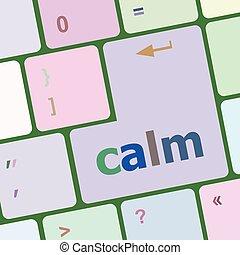computer, knoop, illustratie, vector, kalm, klee, toetsenbord